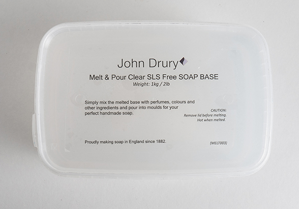 John Drury Melt and Pour - CLEAR SLS FREE
